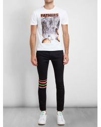 Raf Simons Sterling Ruby Frosted Flower Print Tshirt - Lyst