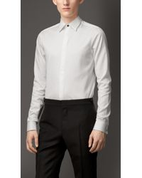 Burberry Concealed Placket Cotton Shirt - Lyst