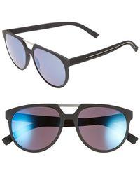 Dior 55Mm Sunglasses blue - Lyst