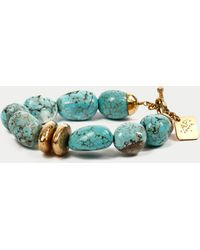 Ashley Pittman Yai Turquoise Bracelet blue - Lyst