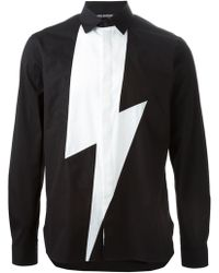 Neil Barrett Lightening Bolt Shirt - Lyst