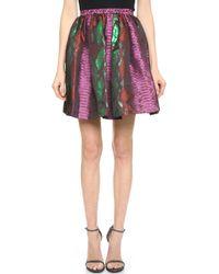House Of Holland Snake Jacquard Skirt - Pink Snake - Lyst