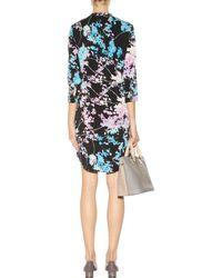 Diane von Furstenberg Freya Printed Silk Dress - Blue