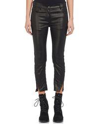 Ann Demeulemeester - Shimmer Cropped Skinny Jeans - Lyst