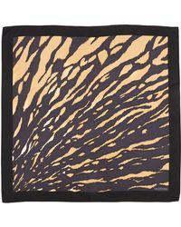 Valentino Animal-Print Square Silk Scarf - Lyst
