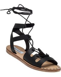Steve Madden | Rella Leather Gladiator Sandals | Lyst