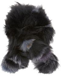 Barneys New York Fox Fur Scarf - Lyst