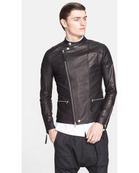 Helmut Lang Leather Moto Jacket - Lyst