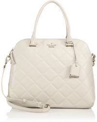 Kate Spade Emerson Place Quilted Satchel white - Lyst