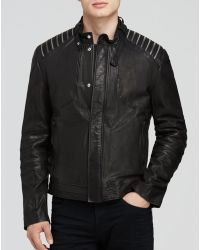 Hugo Ledrick Leather Moto Jacket - Lyst