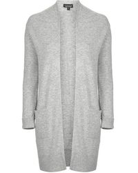Topshop Long Duster Knitted Cardigan - Lyst