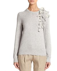 Michael Kors Cashmere Corsage Sweater - Lyst