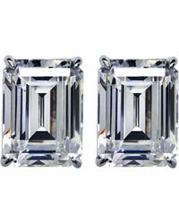 Carat* - Emerald 1ct Solitaire Stud Earrings - Lyst