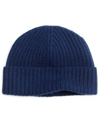 Brooks Brothers Blue Cashmere Hat - Lyst