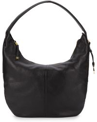 Halston Heritage Pebbled Leather Shoulder Bagblack - Lyst