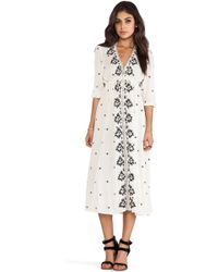 Free People Embroidered Dress - Lyst