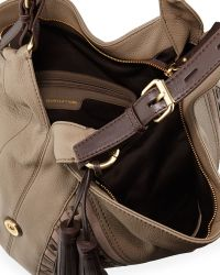 Isabella Fiore Brinkley Leather Hobo Bag - Brown