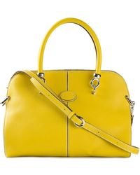 Tod's Two-Toned Tote - Lyst