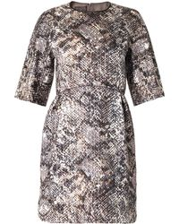 Giambattista Valli Metallic Reptile-Jacquard Dress - Lyst