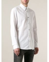 Alexander McQueen Embroidered Collar Shirt - Lyst