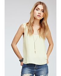 Forever 21 Classic Woven Blouse - Lyst