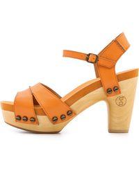 Flogg Florence Clog Sandals - Orange