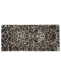 Topshop Leopard Print Skinny Scarf - Lyst