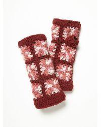 Free People Womens Flower Crochet Arm Warmer - Purple