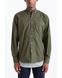 Obey Baxter Long-sleeve Button-down Shirt - Lyst