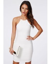 Missguided Vivian Strappy Bandage Bodycon Dress White - Lyst