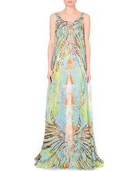 Emilio Pucci Star-Print Silk-Chiffon Gown - Lyst