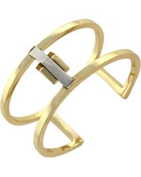BCBGeneration - Two-Tone Faceted Cuff Bracelet - Lyst