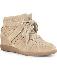 Isabel Marant Bobby Suede Wedge Trainers - Lyst