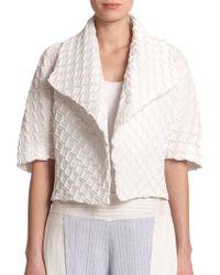 Issey Miyake Cloud Pleat Jacket white - Lyst
