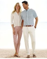 Brooks Brothers Clark Fit Plain-Front Lightweight Advantage Chinos® white - Lyst