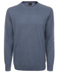 Paul Smith Sky Blue Crew Neck Sweater - Lyst
