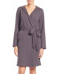 Hanro | Danielle Hooded French Terry Robe | Lyst