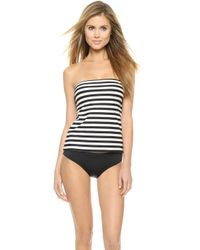 Kate Spade Georgica Beach Striped Tankini Top - Black - Lyst