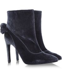 Carven Gray Ankle Boots - Lyst