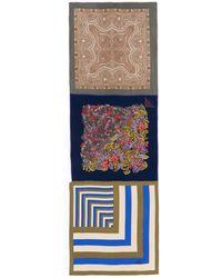 Ibrigu - One Of A Kind Patchwork Print Silk Scarf - Lyst