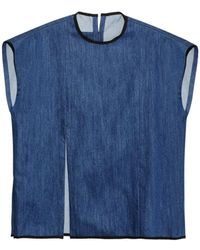 Björn Borg Cotton-Denim Tank T-Shirt - Blue
