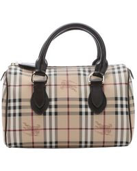 Burberry Dark Brown Nova Check 'Chester' Coated Canvas Top Handle Tote beige - Lyst