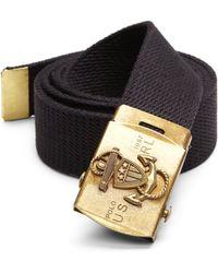 Polo Ralph Lauren Anchor-Plaque Webbed Belt - Lyst