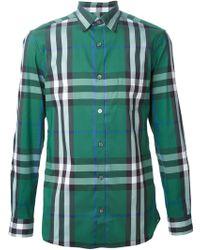 Burberry Brit Check Print Shirt - Lyst