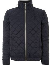 G-star Raw Zip Through Quilted Overshirt - Lyst