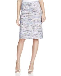 Basler Printed Skirt - Gray