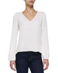 Diane Von Furstenberg Arlenis Long-sleeve Silk Top - Lyst