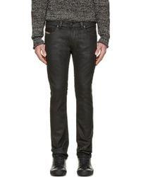 Diesel Black Coated Thavar_Ne Jogg Jeans - Lyst