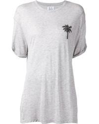 Zoe Karssen Embroidered Palm Tree T-Shirt - Lyst