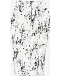 Nadia Tarr Exclusive Scuba Graphic Pencil Skirt - White